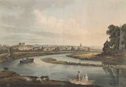 A south-west view of Nottingham from the River Trent